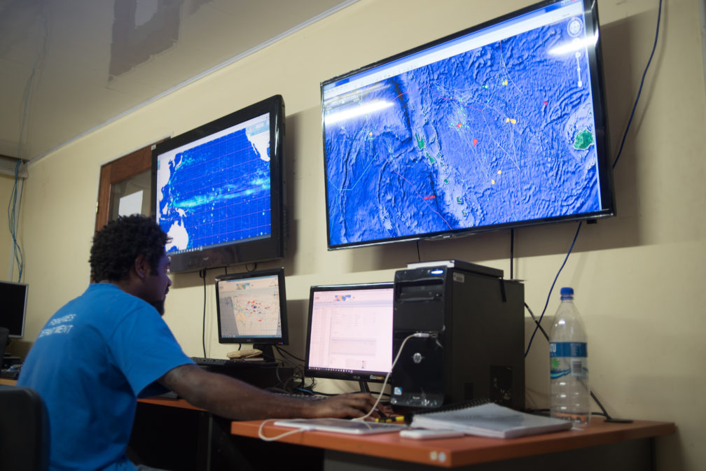 Satellite and internet technology make it possible to monitor fishing vessels nearly in real time. Vanuatu maintains a 24/7 surveillance regime for all vessels licensed to fish in its EEZ, as well as a global watch on all Vanuatu-flagged fishing boats.